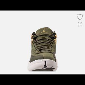 Jordan Shoes Retro 12s Olive Green Mens